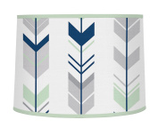 Sweet Jojo Designs Grey, Navy Blue and Mint Woodland Arrow Boy or Girl Baby Childrens Lamp Shade