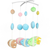 Wind-up Music Box Mobile Exquisite Baby Crib Decoration [Tropical Fish]