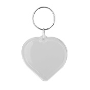 10 Pcs Transparent Clear Acrylic Blank DIY Photo Picture Frame Key Chains Key Ring Keychain, Heart Shape