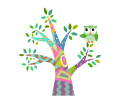 Owl Coloured Tree Wall Sticker Vinyl Art Decal Mural Home Decor