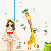 Cute Giraffe Kids Height Chart Wall Sticker Vinyl Decal Baby Nursery Room