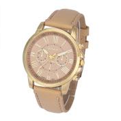 Lookatool® Women's Fashion Roman Numerals Faux Leather Analogue Quartz Wrist Watch