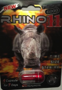 RHINO 11 - Platinum 6000 All Natural Male Enhancement Sex Pill - 3 PACK