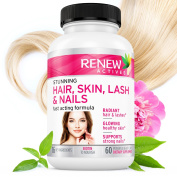#1 BEST Hair Skin Lash & Nails! Promotes Healthy Longer Hair, Radiant Skin & Stronger Thicker Nails! 22 Potent Vitamins Assists Anti-Ageing Skin. .