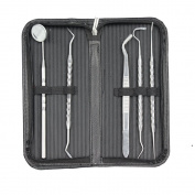 Efrank Dental Kit - Includes Tarter Scraper/Scaling Instrument, Dental Toothpick, Mouth Mirror - Professional Surgical Grade Dentist Approved Tools