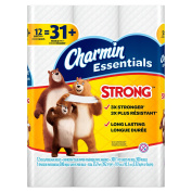 Charmin Essentials Strong Toilet Paper Bath Tissue, 48 Count