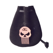 Punisher Skull Baby Beard & Musatche Coin Pocket Comb W/ Handmade Leather Pouch By Beard Gains
