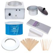 JMT Beauty Professional Wax Warmer Kit, includes Cirepil Blue Tin Wax (410ml) and accessories