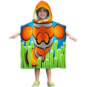 Kids Clownfish Towel Poncho