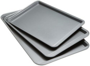 Good Cook Set Of 3 Non-Stick Cookie Sheet, Kitchen Bakeware Dishwasher Safe, New