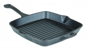Viking 40351-1210-SQ 28cm Enamel Cast Iron Square Grill Pan, Small, Charcoal