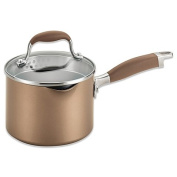 Anolon Advanced Bronze Hard Anodized Nonstick 1.9l Covered Straining Saucepan with Spout