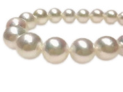 Women's AAA round top lustre 17 inch 14-17mm white south sea cultured pearl necklace 14k gold clasp