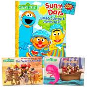 Sesame Street Elmo Pop Up Book Set For Kids Toddlers