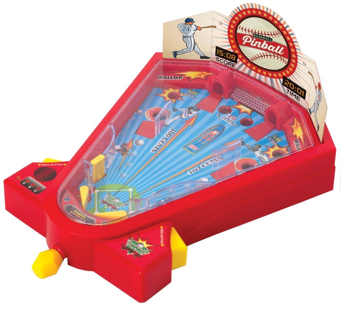 Desktop Pinball Mini Baseball Game For Kids Tabletop Travel Games 1 or 2  Player Fun Activity Toy Hit Targets For Home Run - Ideas In Life