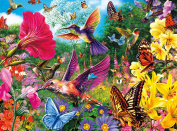 Buffalo Games Hummingbird Garden Jigsaw Puzzle from the Vivid Collection