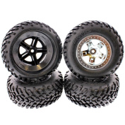 TRAXXAS 1/10 SLASH 2WD FRONT AND REAR tyres, THESE TRAXXAS tyres ARE THE BEST FOR PERFORMANCE.