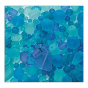 Sea Glass Bead Assortment, Ocean Wave
