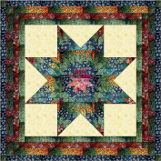 Easy Quilt Kit Brilliant Batik Lonestar-queen/EXPEDITED SHIPPING