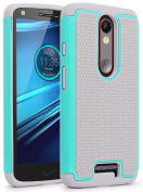 Droid Turbo 2 Case, NOKEA [Shock Absorption] Hybrid Dual Layer Armour Defender Protective Case Cover for Verizon Motorola Droid Turbo 2 / Moto X Force (2015)