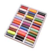 Mochiglory 39 Assorted Colour Spools of Rainbow Polyester Sewing Thread