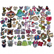 50pcs Animal embroidery Patches Iron On Appliques