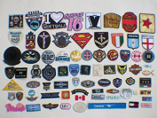 30pcs Armbands Emblem Badge Heart embroidery Patches Iron On Appliques