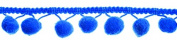 Essential Trimmings ET601/547 | Blue Pom Pom Trim | 20mm x 18m | Bobble Fringe