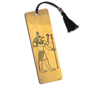Anubis Ancient Egyptian God Printed Bookmark with Tassel