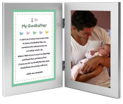 Godfather Baptism or Birthday Gift - Sweet Godchild Poem From Godson or Goddaughter in Double Frame - Add 4x6 Photo