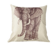 Cotton Throw Pillow Case Vintage Cushion Cover, 46cm x 46cm