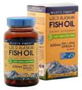 Wiley's Finest - Wild Alaskan Fish Oil - Easy Swallow Minis (630mg Epa+dha Per Serving) Omega 3 Supplements - 180 Softgels