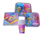 Shimmer and Shine Party Supplies Pack for 8 Guests