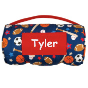 Stephen Joseph Personalised All-Over Sports Print Childs Nap Mat