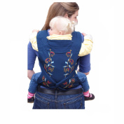 Vine High Quality Baby Slings Embroidery Patterns Baby Carriers Front Back or Hip Carry Less Effort Cotton Baby Wrap Infant Front Carriers Newborn Soft Straps for Toddler