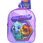 Girl's Pink PAW Patrol Skye & Everest School Travel Backpack Bag