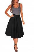 Dokotoo Women's Fashion Casual High Waist Flared Solid A-Line Long Skirt Dress