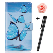 Samsung Galaxy S6 Case,Samsung Galaxy S6 Leather Case,Flip Wallet case for Samsung Galaxy S6,Tebeyy Colourful Premium Flower Animal Cartoon Pattern Art Painted PU Leather Stand Function Flip Magnetic Book Wallet with Card Slot Holder Protective Cover C ..