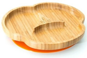 Baby Toddler Suction Plate, Suction Stay Put Feeding Plate, Natural Bamboo
