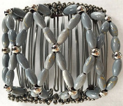 Side comb Hair clip Hair Clamp Beauty Hair accessories hair clip Choice - Grey Beads with Metal comb - LK Trend & Style
