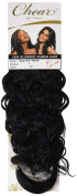 Chear Spanish Wave Weft Human Hair Extension with Premium Blend Weave Number 1, Jet Black 30cm