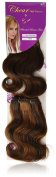 Chear Body Wave 2-in-1 Weft Human Hair Extension with Premium Blend Weave Number P4/30, Medium Dark Brown/Auburn 8-Inch