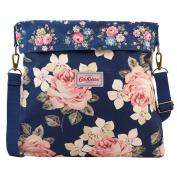 Cath Kidston Cotton Reversible Folded Messenger Bag Crossbody 16SS Richmond Rose Colour Dark Navy