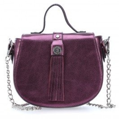George Gina & Lucy Leather Nown Hippiho Satchel violet