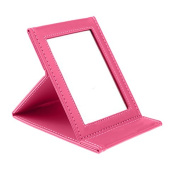Hrph Foldable Portable Leather Makeup Mirror Women Beauty Cosmetics Mirrors Make Up Tool