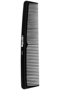 Hair Comb- a Professional Hairdressing Carbon Fibre Comb by Majestik+, Strength & Durability, Medium and Fine Tooth, Black, With Free Bespoke PVC Product Pouch