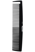 Hair Comb- a Professional Carbon Fibre Styling Comb, Strength & Durability, Medium and Fine Tooth in Black With Free Bespoke PVC Product Pouch