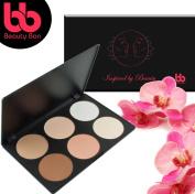 Beauty Bon Contour Kit, 6 Colours Professional Face Sculpting, Camouflage And Concealing Powder Makeup Blush Palette