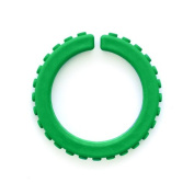ARK's Brick XXT Textured Chew Bracelet Made in the USA Chewelry (Forest Green, Extra Extra Tough) - Large