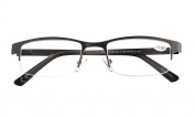 Amcedar Metal Half-Frame Reading Glasses Men 5-Pack Spring Hinges Stainless Steel Material Sun Readers 1.00